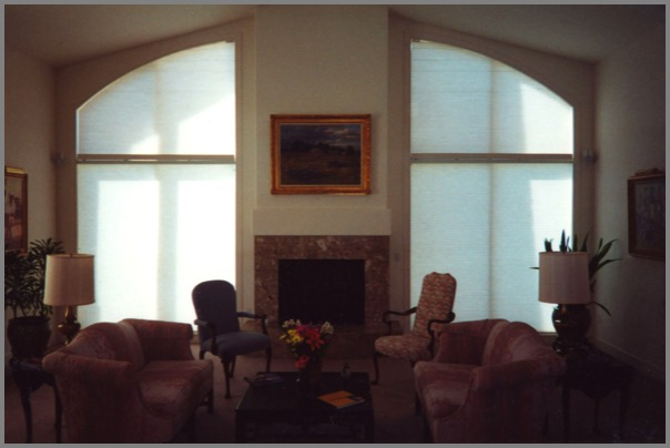 Arched Blinds And Angled Shades Motorized Blinds Moveable Shades Operable Blinds